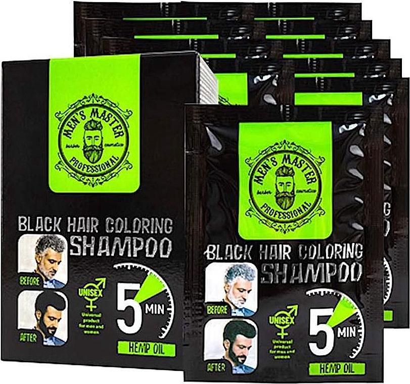 Окрашивающий шампунь для волос для камуфлирования седины - Men's Master Black Hair Coloring Shampoo