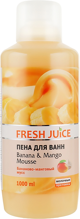 Пена для ванны - Fresh Juice Banana and Mango Mousse