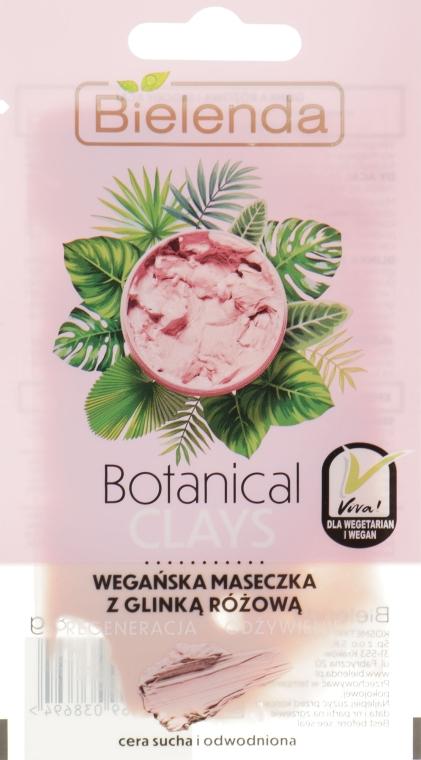 Маска для чувствительной, сухой кожи, с розовой глиной - Bielenda Botanical Clays