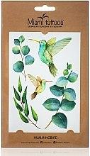 Духи, Парфюмерия, косметика Акварельные переводные тату - Miami Tattoos Hummingbird