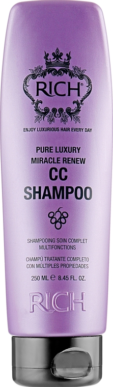 Восстанавливающий шампунь для волос - Rich Pure Luxury Miracle Renew CC Shampoo