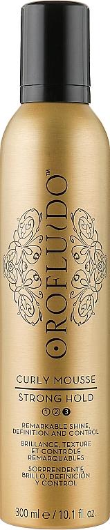 Мусс для создания локонов сильной фиксации - Orofluido Curly Mousse Strong Hold