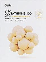 Духи, Парфюмерия, косметика Осветляющая тканевая маска для придания яркости - Ottie Vita Glutathione 100 Mask