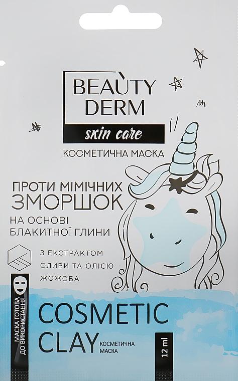 Косметическая маска для лица на основе голубой глины против мимических морщин - Beauty Derm Skin Care Cosmetic Clay