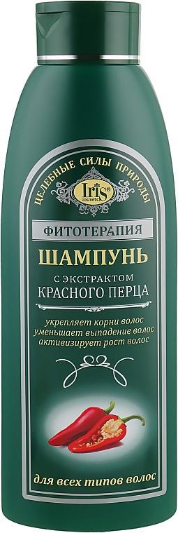 Шампунь с экстрактом красного перца для всех типов волос - Iris Cosmetic