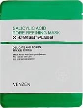 Духи, Парфюмерия, косметика Тканевая маска для проблемной кожи с салициловой кислотой - Venzen Salicylic Acid Pore Refining Mask