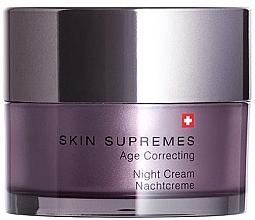Духи, Парфюмерия, косметика Ночной крем для лица - Artemis of Switzerland Skin Supremes Age Correcting Night Cream