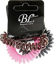 Духи, Парфюмерия, косметика Набор резинок для волос, 405004, темно-серая+розовая+коричневая - Beauty Line
