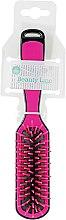Духи, Парфюмерия, косметика Прямоугольная расческа для укладки, черно-розовая - Beauty Line