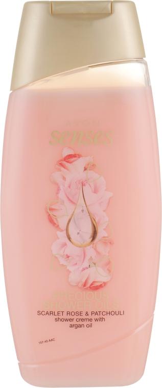 """Крем-гель для душа """"Роза и пачули"""" - Avon Senses Scarlet Rose & Patchouli Shower Cream"""