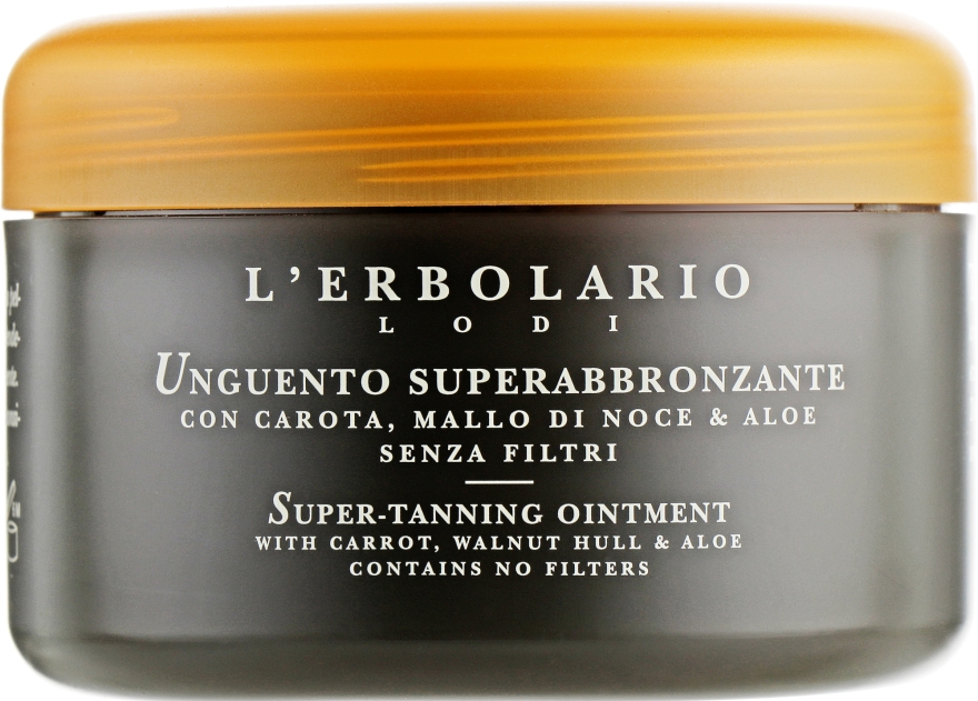 Мазь для суперзагара с морковью, чашечками грецкого ореха и алоэ - L'Erbolario Unguento Superabbronzante Con Carota, Mallo Di Noce&Aloe — фото N2