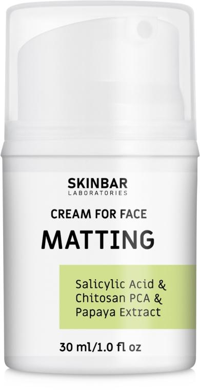 "Крем для лица матирующий и увлажняющий ""Matting"" - SKINBAR Salicylic Acid & Chitosan PCA & Papaya Extract Face Cream"