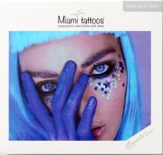 Духи, Парфюмерия, косметика Клеящиеся кристаллы для лица - Miami Tattoos Crystalzzz Stars In Blue