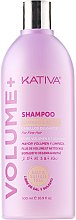 Духи, Парфюмерия, косметика Очищающий шампунь для объема волос - Kativa Volume + Shampoo