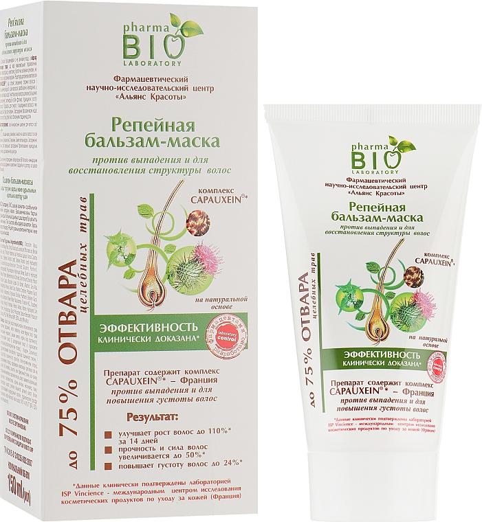 Репейная бальзам-маска против выпадения и для восстановления структуры волос - Pharma Bio Laboratory