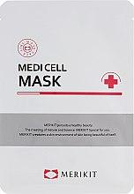 Духи, Парфюмерия, косметика Интенсивная регенерирующая маска из биоцеллюлозы кокоса - Merikit Medi Cell Mask