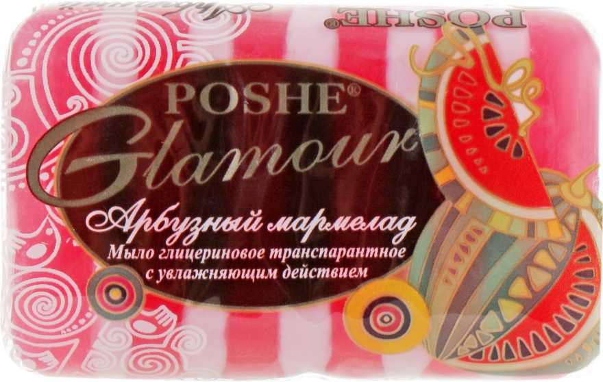 """Глицериновое транспарантное мыло """"Арбузный мармелад"""" - Poshe Glamour"""