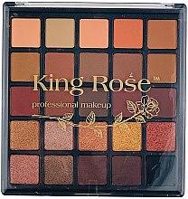 Духи, Парфюмерия, косметика Профессиональная палетка теней для век, 25 цветов - King Rose