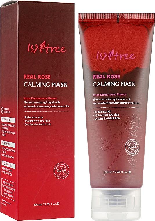 Успокаивающая маска с экстрактом розы - IsNtree Real Rose Calming Mask