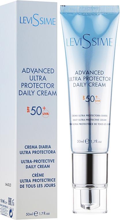 Солнцезащитный крем-гель для лица - LeviSsime Advanced Ultra Protector Daily Cream SPF50