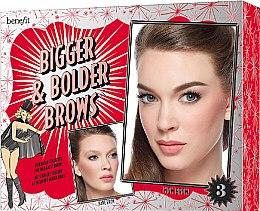 Парфумерія, косметика Набор - Benefit Bigger & Bolder Brows Kit (brow/gel/3g + brow/hail/2.8g + brow/gel/3.5ml + асс)