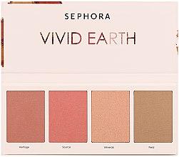 Духи, Парфюмерия, косметика Палетка для макияжа лица - Sephora Vivid Earth Palette