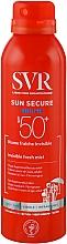 Духи, Парфюмерия, косметика Солнцезащитный спрей - SVR Sun Secure Brume Invisible Fresh Mist SPF 50