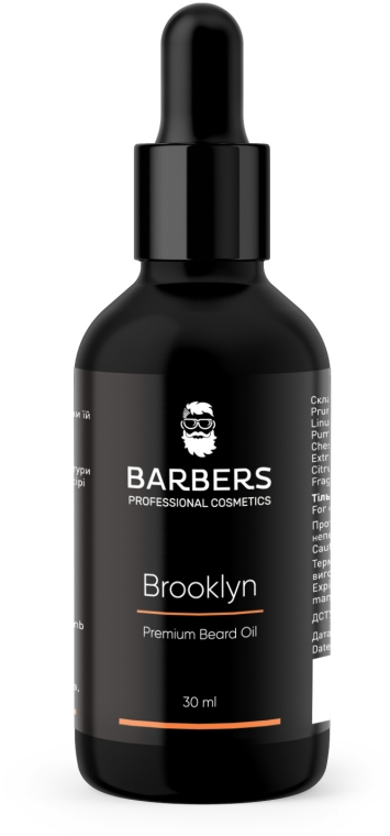 Масло для бороды - Barbers Brooklyn Premium Beard Oil