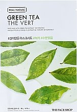 Маска-салфетка для лица c экстрактом зеленого чая - The Face Shop Real Nature Mask Sheet Green Tea — фото N2