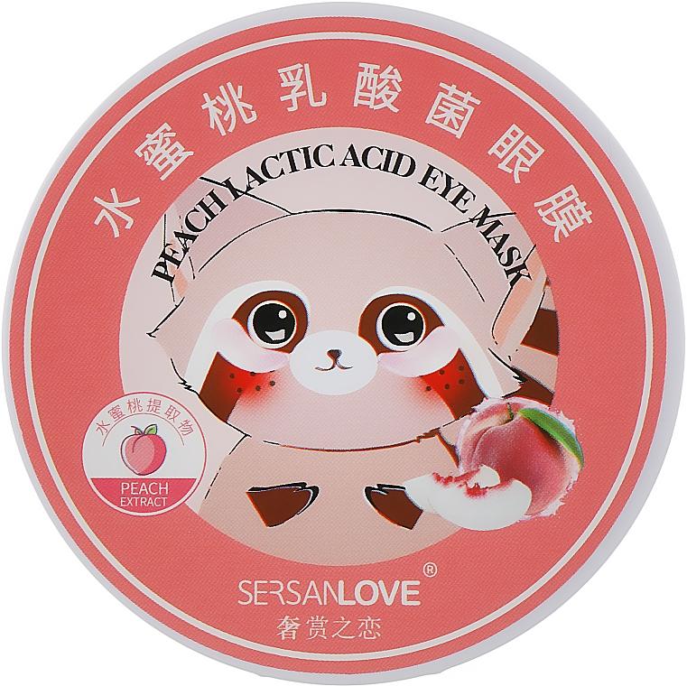 Патчи для глаз с экстрактом персика - Sersanlove Peach Lactic Acid Eye Mask