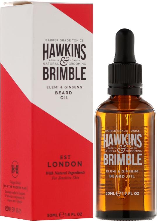 Масло для бороды - Hawkins & Brimble Elemi & Ginseng Beard Oil