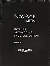 Духи, Парфюмерия, косметика Увлажняющий гель-крем против старения кожи - Oriflame NovAge Men Intense Anti-Ageing Face Gel Lotion (пробник)