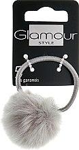 Духи, Парфюмерия, косметика Резинка для волос с пушком, серая - Glamour
