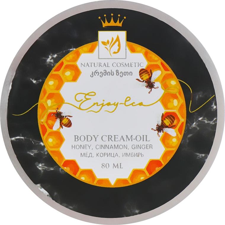 """Натуральное крем-масло для тела """"Мед, имбирь и корица"""" - Enjoy & Joy Enjoy Eco Body Cream-oil"""