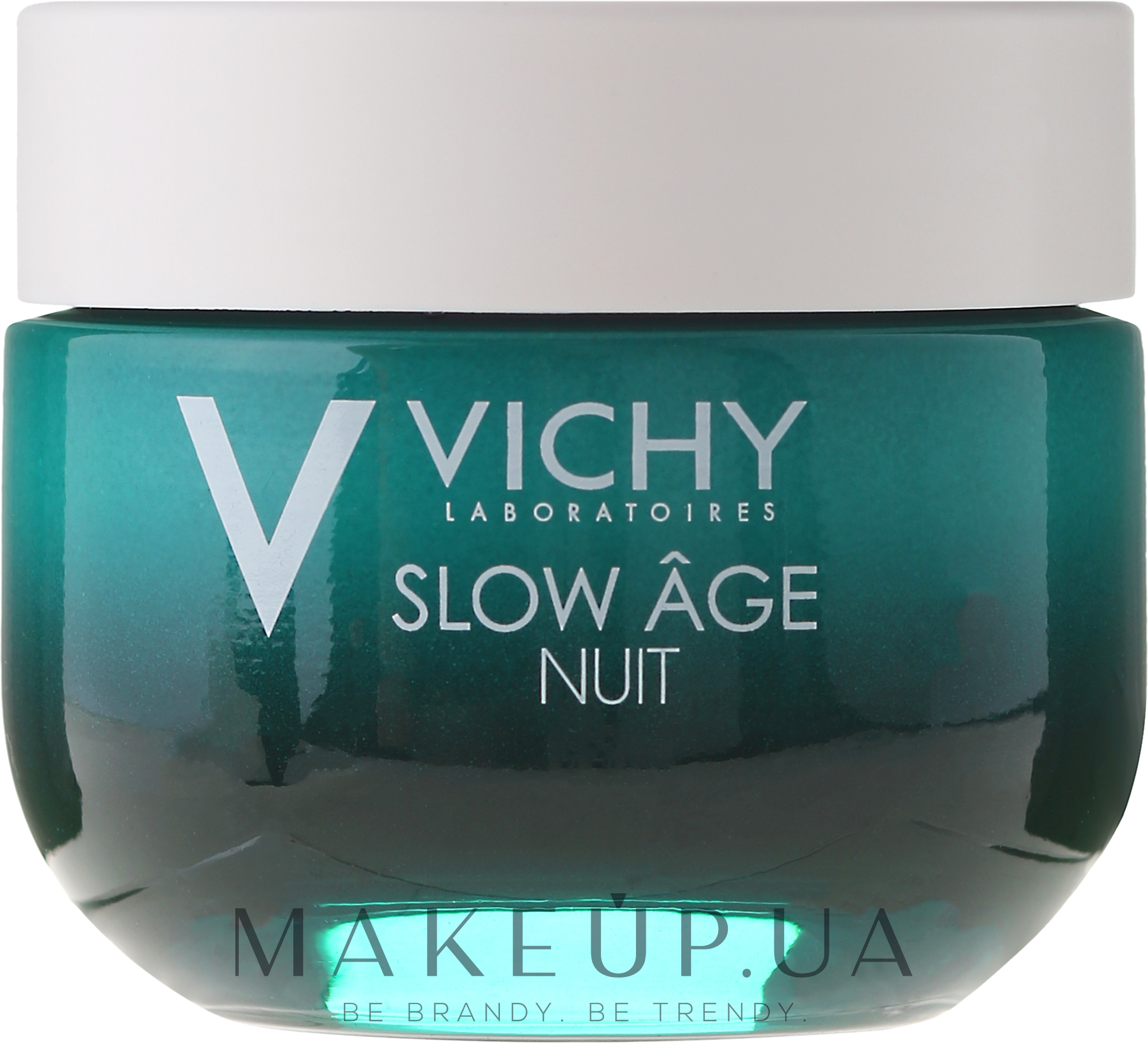 Ночная крем-маска для коррекции признаков старения кожи - Vichy Slow Age Fresh Cream & Mask — фото 50ml