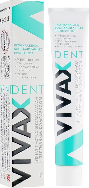 Зубная паста с пептидным комплексом и бисабололом - Vivax Dent