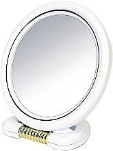 Духи, Парфюмерия, косметика Зеркало двустороннее круглое, на подставке, белое, 18,5 см - Donegal Mirror