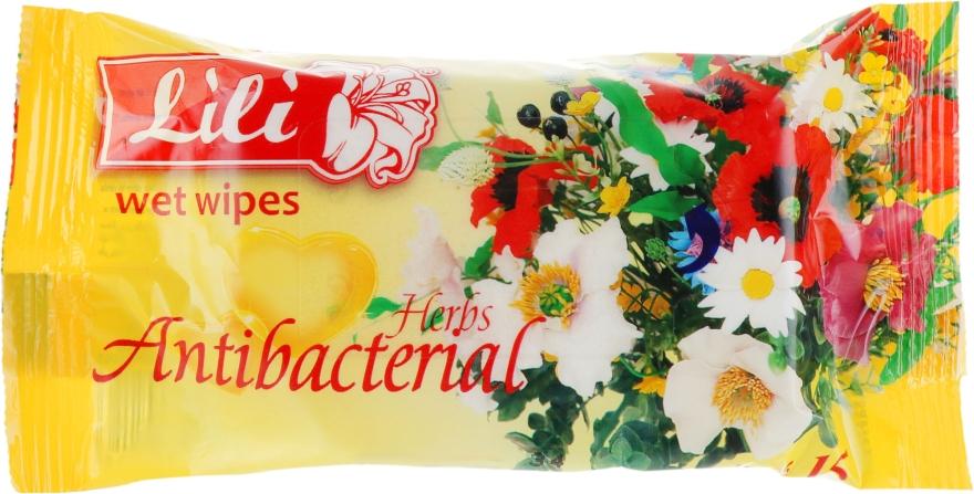 Влажные салфетки с ароматом луговой свежести - Lili
