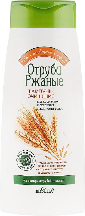 """Шампунь-очищение """"Отруби Ржаные"""" для нормальных и склонных к жирности волос - Bielita"""