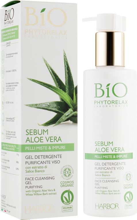 Очищающий гель для лица с алоэ вера - Phytorelax Laboratories Bio Phytorelax Sebum Aloe Vera Face Cleansing Gel Purifying