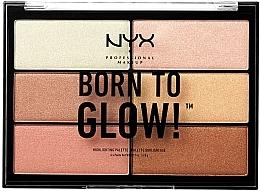 Духи, Парфюмерия, косметика Палетка хайлайтеров - NYX Professional Makeup Professional Born to Glow Highlighting Palette