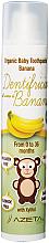 """Духи, Парфюмерия, косметика Детская зубная паста """"Банан"""" - Azeta Bio Organic Tooth Paste Banana"""