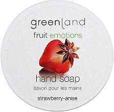 "Духи, Парфюмерия, косметика Мыло для рук ""Клубника-анис"" - Greenland Fruit Emotions Hand Soap Strawberry-anise"
