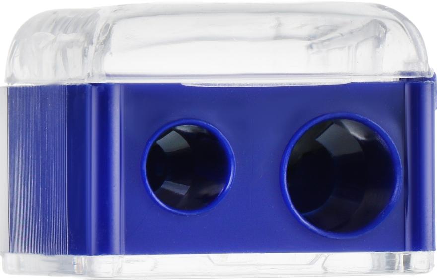 Точилка двойная для карандашей, Т0003, синяя - Rapira
