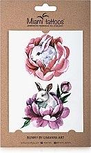 Духи, Парфюмерия, косметика Акварельные переводные тату - Miami Tattoos Bunny by Limanya Art