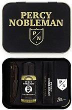 Духи, Парфюмерия, косметика Набор - Percy Nobleman (comb/1pcs + b/oil/10ml + wax/5ml + badge)