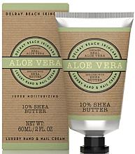 "Духи, Парфюмерия, косметика Крем для рук ""Алое вера"" - The Somerset Toiletry Co. Delray Beach Hand & Nail Cream"