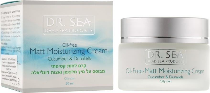 Безжировой увлажняющий матирующий крем с экстрактами огурца и дуналиеллы - Dr. Sea Oil-Free Matt Moisturizing Cream