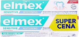 Духи, Парфюмерия, косметика Набор - Elmex Sensitive Whitening Toothpaste (toothpaste/2x75ml)