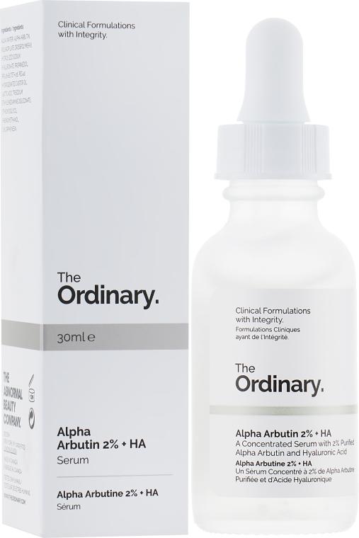 Сыворотка для осветления - The Ordinary – Alpha Arbutin 2% + HA